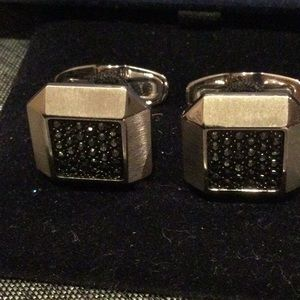 Swarovski black jewels cuff links